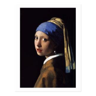 Das Mädchen mit einem Perlen-Ohrring durch Postkarte