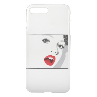 Das Mädchen mit rotem Lippenstift iPhone 8 Plus/7 Plus Hülle