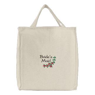Das Mädchen-Taschen-Tasche der gestickten Braut Bestickte Tragetasche