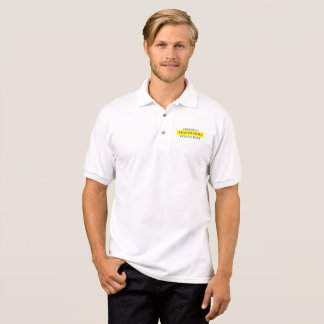 Das Magere der Männer sechs Sigma-gelbes Gurt-Polo Polo Shirt