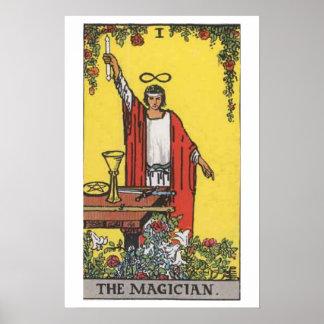 Das Magier-Tarot-Karten-Plakat