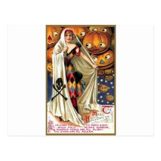 Das magische Halloween Postkarte
