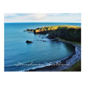 Das magische Stonehaven in schönem Schottland! Postkarte