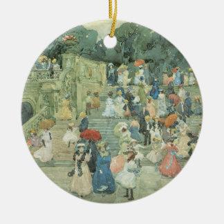 Das Mall, Central Park durch Maurice Prendergast Rundes Keramik Ornament