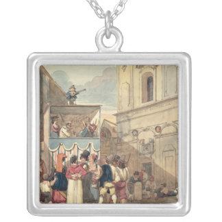 Das Marionetten-Theater Halskette Mit Quadratischem Anhänger
