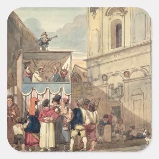 Das Marionetten-Theater Quadrat-Aufkleber