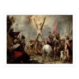 Das Martyrium von St Andrew, 1675-82 (Öl auf canva Postkarte