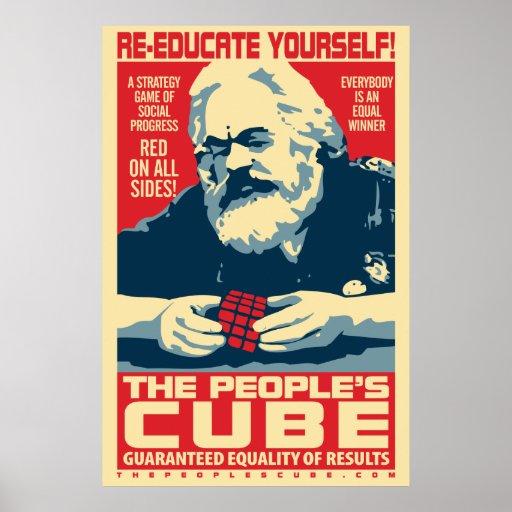 Das marx-Plakat der Leute der Würfel