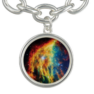 Das Medusa-Nebelfleck Hubble Weltraum-Foto Charm Armband