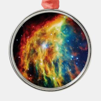 Das Medusa-Nebelfleck Hubble Weltraum-Foto Silbernes Ornament