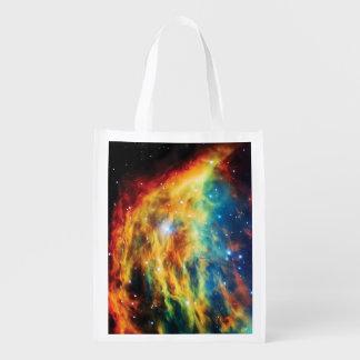 Das Medusa-Nebelfleck Hubble Weltraum-Foto Wiederverwendbare Einkaufstasche