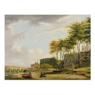 Das Medway in Rochester, 1776 (Öl auf Leinwand) Postkarte