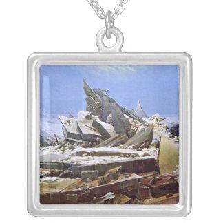 Das Meer des Eises, Caspar David Friedrich Halskette Mit Quadratischem Anhänger