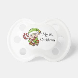 Das mein 1. Weihnachten des Weihnachtself-Babys Schnuller