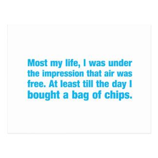 das meiste mein Leben war ich unter dem Eindruck Postkarte