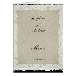Das meiste populäre Hochzeits-Menü-Creme-Papier Karte