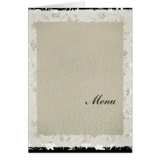 Das meiste populäres Hochzeits-Menü-alte Papier Karte