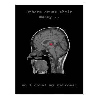 Das menschliche Gehirn - Postkarte
