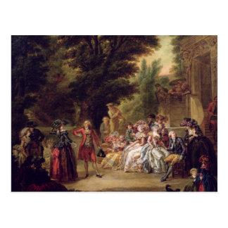Das Menuett unter der Eiche, 1787 Postkarte