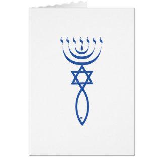 Das messianische jüdische Siegel von Jerusalem Karte
