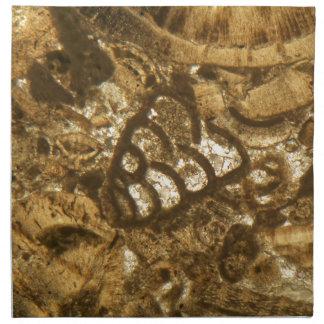 Das Miozän betreffender Kalkstein unter dem Stoffserviette