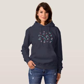 Das mit Kapuze Sweatshirt der Klee-Blumen-Frauen
