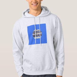 Das mit Kapuze Sweatshirt der runden blauen
