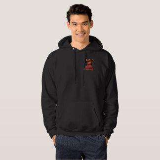 Das mit Kapuze Sweatshirt-orange Turm schwarzer Hoodie