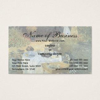Das Mittagessen durch Claude Monet Visitenkarte
