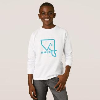 Das MMNH der Kinder blauer Elefant-langes T-Shirt