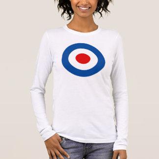 Das Mod-Roundel Lang-Sleeved T-Stück der Frauen Langarm T-Shirt