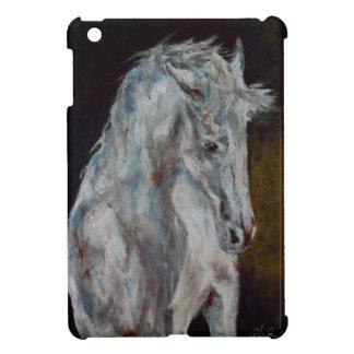 Das moderne weiße blaue Pferd iPad Mini Hülle