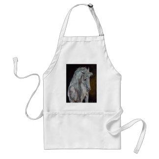Das moderne weiße blaue Pferd Schürze