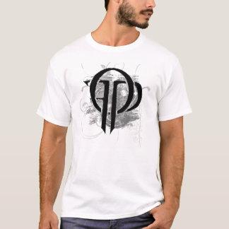 Das Monogramm-Weiß der Männer T-Shirt