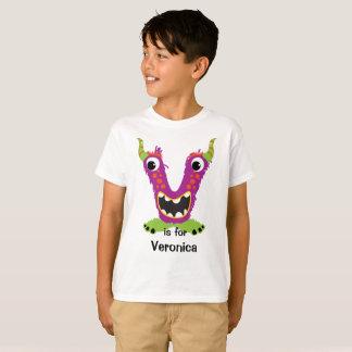 Das Monster-Alphabet des Buchstabe-V T-Shirt