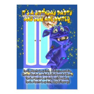 Das Monster-Geburtstags-Party Einladung der Kinder