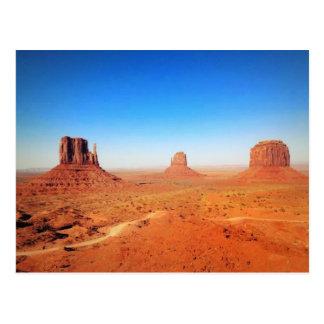 Das Monument-Tal in Utah Postkarte