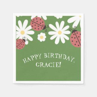 Das Moos-Grün-Geburtstags-Party des Papierservietten