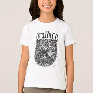 Das morgens Araldica Mädchens. Kleidert-stück T-Shirt