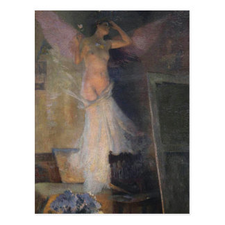 Das Muse des Malers durch Henri Martin Postkarte