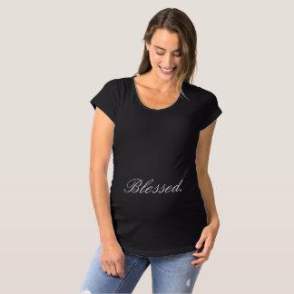 """Das Mutterschaftst-shirt der Frauen """"gesegnet. """" Schwangerschafts T-Shirt"""