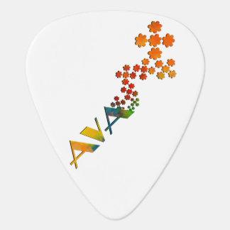 Regenbogen gef rbt gitarren picks zazzle for Namensspiele