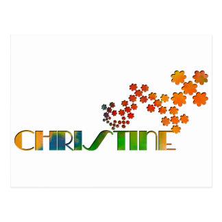 Das Namensspiel - Christine Postkarte