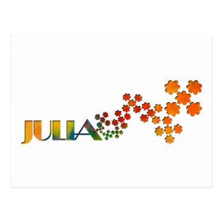 Das Namensspiel - Julia Postkarte