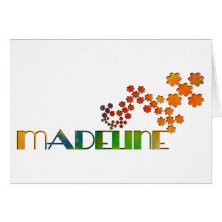 Das Namensspiel - Madeline Karte