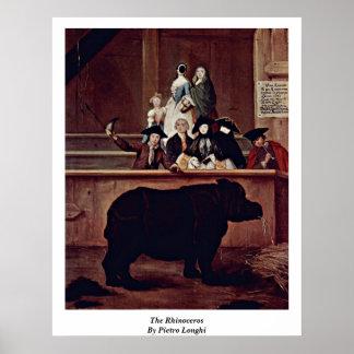 """Das Nashorn"""" durch Pietro Longhi Poster"""