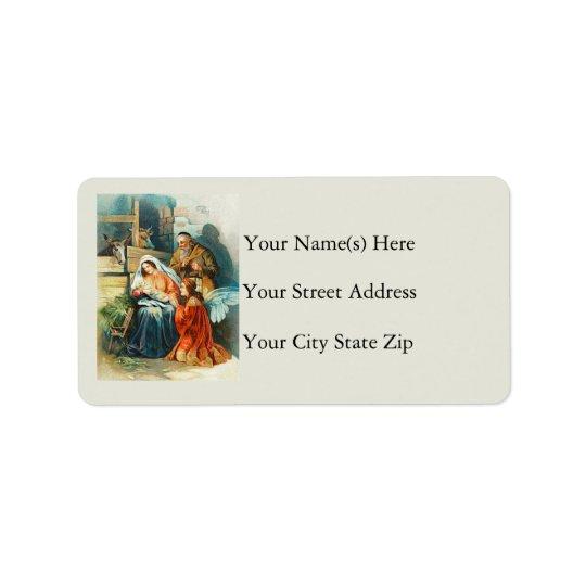 Das nativity-Vintage Adressen-Etikett Adressaufkleber