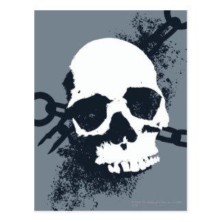 Das necromancer-Schädel-Symbol Postkarte