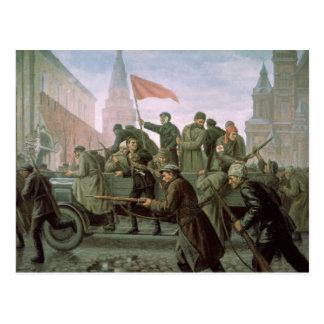 Das Nehmen des Moskaus der Kreml im Jahre 1917, Postkarte