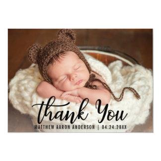 Das neue moderne Baby danken Ihnen Schwarz-Karte Karte